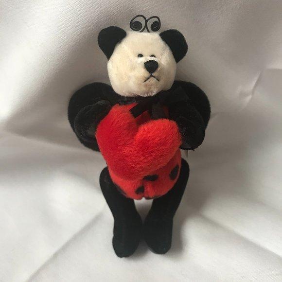 """Boyds Lady B. Lovebug 5"""" Retired Valentine's Bear"""